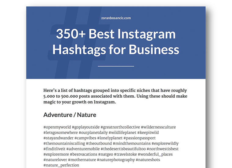 350+ Best Instagram Hashtags for Business