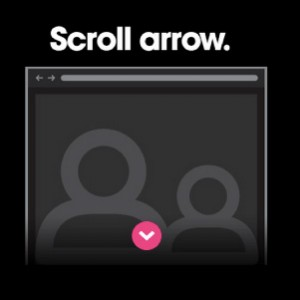 scroll cue with arrow