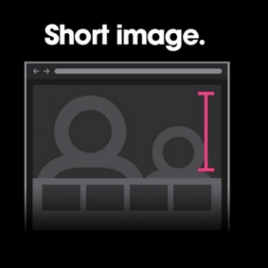 scroll cue with short image