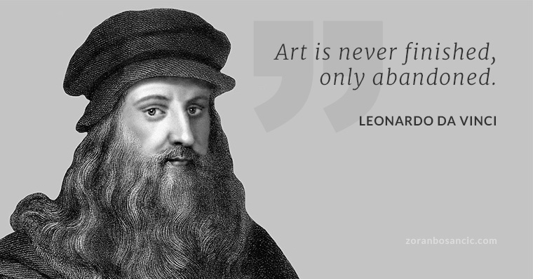 leonardo davinci quote art